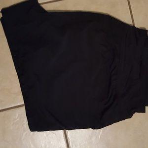 Plus size black workout/swim shorts